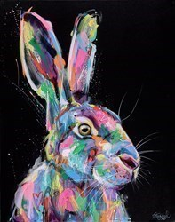 Bright and Beautiful Hare II by Jennifer Hogwood -  sized 24x30 inches. Available from Whitewall Galleries